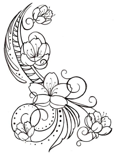 swirl design tattoos cherry blossom and swirls by metacharis deviantart
