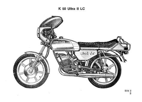 Sachs Motor Betriebsanleitung by Hercules Supra 4 Gp Und K 50 Ultra Ii Lc Sachs