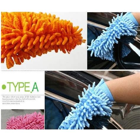 Sarung Tangan Pembersih Debu Blue microfiber cleaning glove sarung tangan pembersih debu