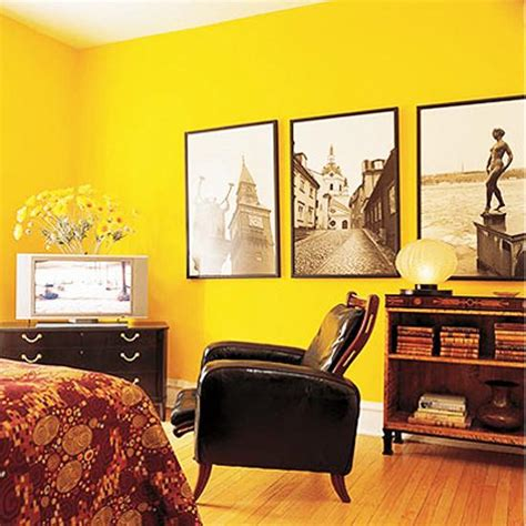 yellow room decorating and happy designs