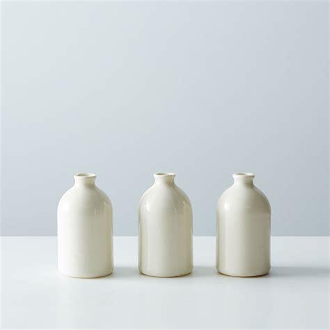 white porcelain bud vases set of 3 on food52