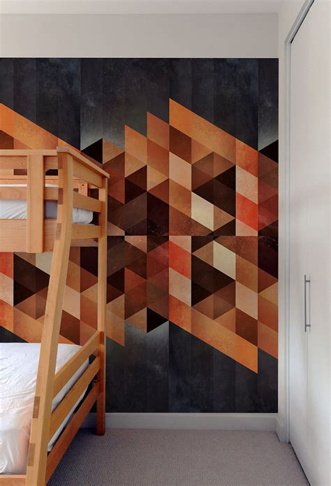 create  captivating accent wall  geometric patterned