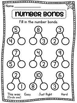 Number Bonds Worksheets by Best 25 Number Bonds Ideas On Number Bonds