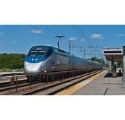 HD High Speed 150 MPH Acela Express Train In Mansfield MA