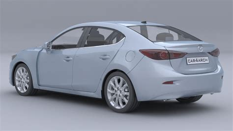 mazda sedan models mazda 3 sedan car4arch vol1 3d model max obj 3ds fbx