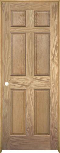 menards unfinished doors mastercraft unfinished oak 6 panel prehung interior door