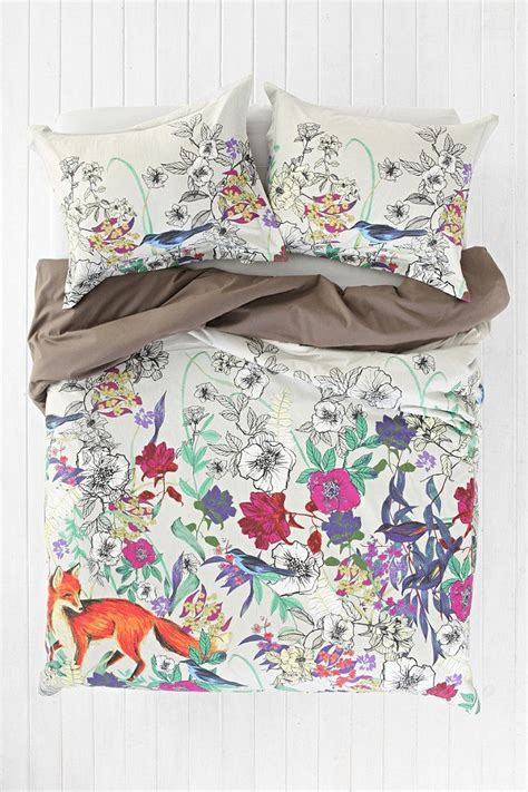 plum bow forest critter duvet cover bedroom ideas
