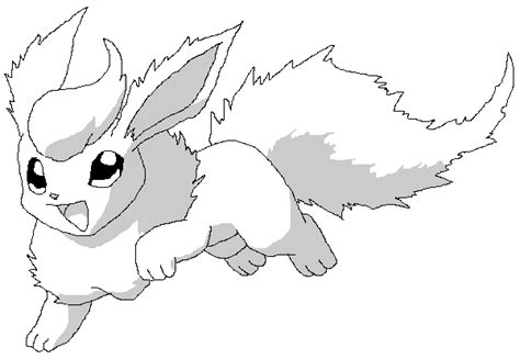 pokemon flareon coloring pages images pokemon images