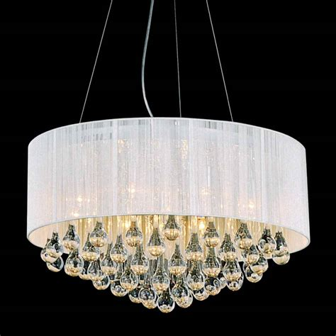 chandelier shades round modern chandelier lighting with white drum shades