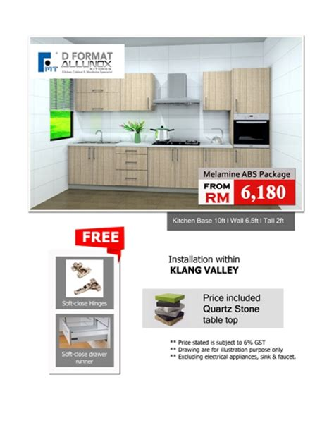 Melamine Abs Kitchen Cabinet by D Format Promotions