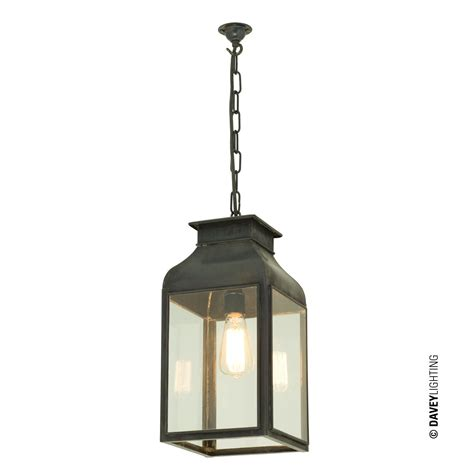 Glass Lantern Pendant Light Pendant Light Lantern Weathered Brass Clear Glass By Davey Lighting