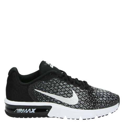 nike air max sequent jongens lage sneakers zwart