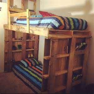 Loft Beds Made Out Of Pallets Astonishing Ideas For Pallet Loft Bunk Beds Wood