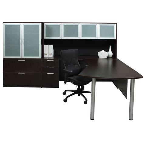 modern espresso desk everyday modern left return laminate l shape desk