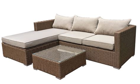 emmett sectional patioflare emmett deep seating sofa sectional set with