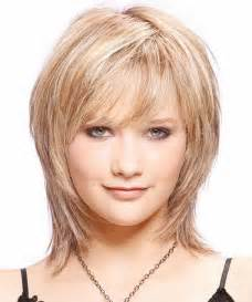 medium hairstyles with bangs for who are overweight short layered hairstyles for fat faces 2015 pinterest