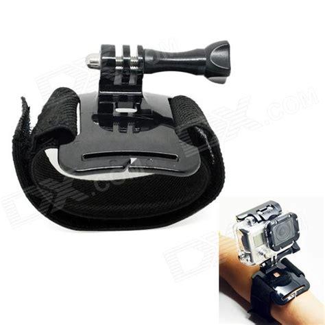 Glove Style Velcro Wrist Band Xiaomi Yi Gopro Murah bz 93b elastic velcro wrist mount for gopro 4 3 3 2 1 sj4000 black free