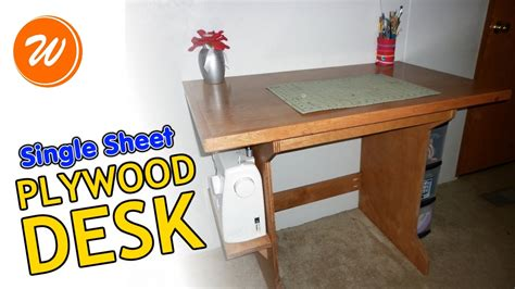 Simple Plywood Desk by How To Make A Simple Plywood Desk Single Sheet Diy