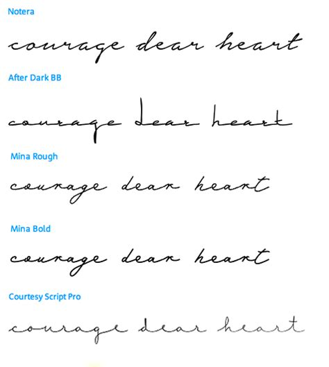tattoo fonts handwritten courage dear which font ideas
