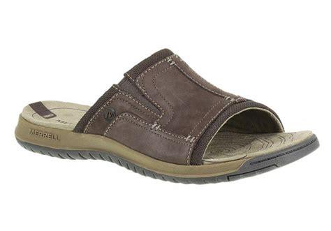 comfort slides merrell traveler tilt slide mens leather comfort slides