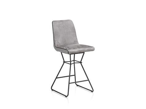 barstoel carbon lederlook grijs stoelen barstoel aiden charcoal grijs deba meubelen