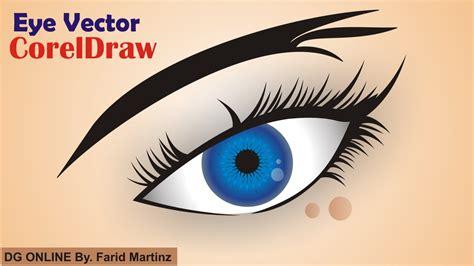 tutorial vector real coreldraw how to make eye vector in coreldraw youtube