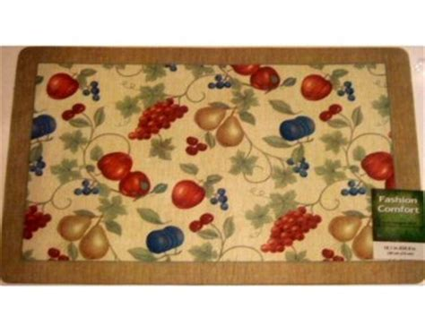 Fruit Kitchen Rugs by Apples Pears Grapes Cherries Fruit Kitchen Rug Comfort Mat