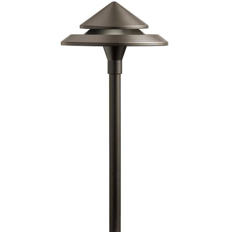 Low Voltage Landscape Lighting Fixtures Shop Kichler 3 Watt Olde Bronze Low Voltage In Led Path Light At Lowes