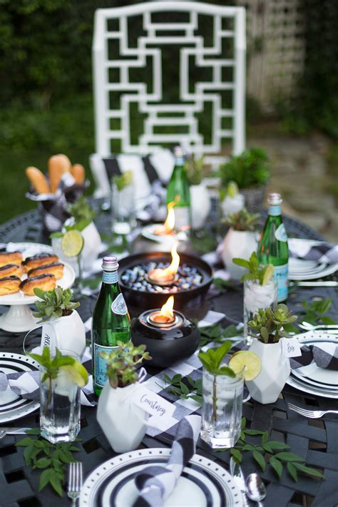 Backyard Dinner by Backyard Dinner Series Black White Chic