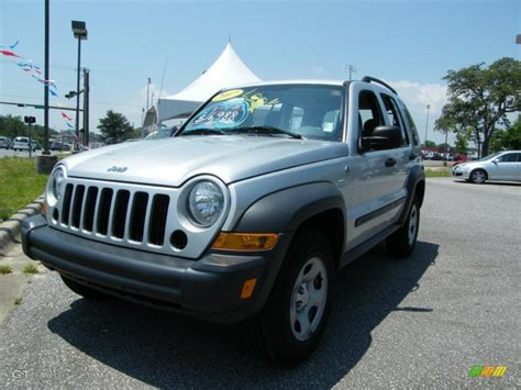 silver jeep liberty 2007 2007 bright silver metallic jeep liberty sport 4x4