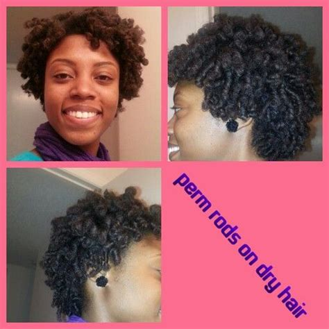 perm rod set on dry natural hair pin by jessica broils on hair tastic pinterest