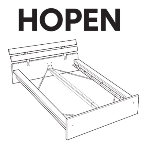 ikea hopen bed frame replacement parts swedish furniture