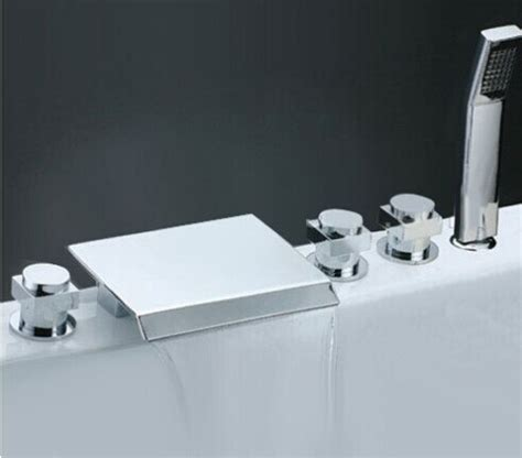 Faucet Cover For Bathtub by 5 Holes Chrome Waterfall Bathtub Faucet Clawfoot Tub