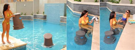 submersible removable pool bar stool liquidseat