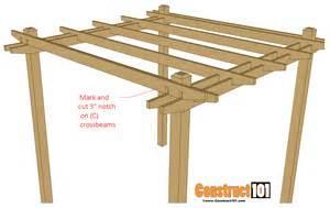 Easy Pergola Plans simple diy pergola plans construct101