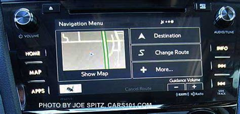 subaru navigation system update 2016 subaru forester audio systems 6 2 quot and 7