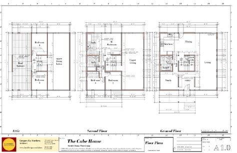 cube house plans modern house plans by gregory la vardera architect cube house floor plans