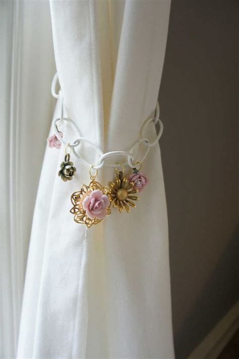 how to make flower curtain tie backs pink is the color of unconditional love don t you wan to