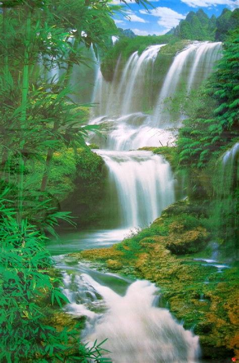 ft forest waterfall poster wall mural wall decor ebay