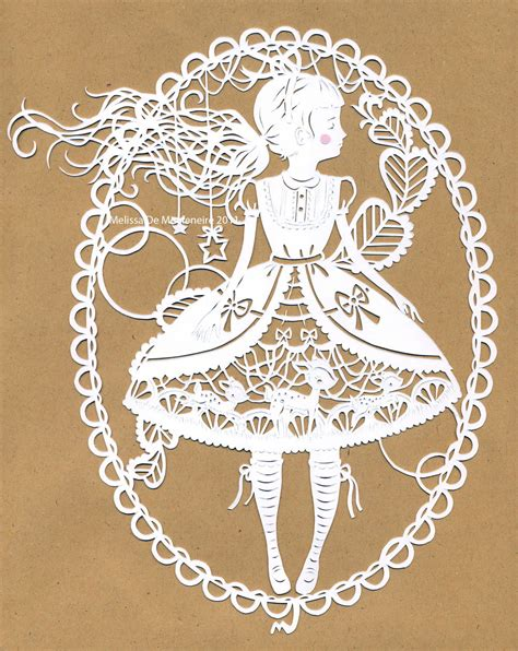 paper cutting nhim papercutting paper fashion