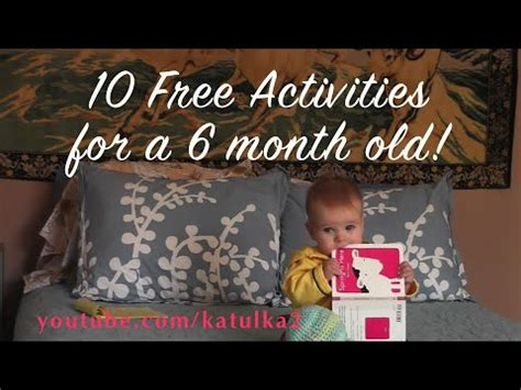 swing for 5 month old baby 10 free activities for a 6 month old youtube