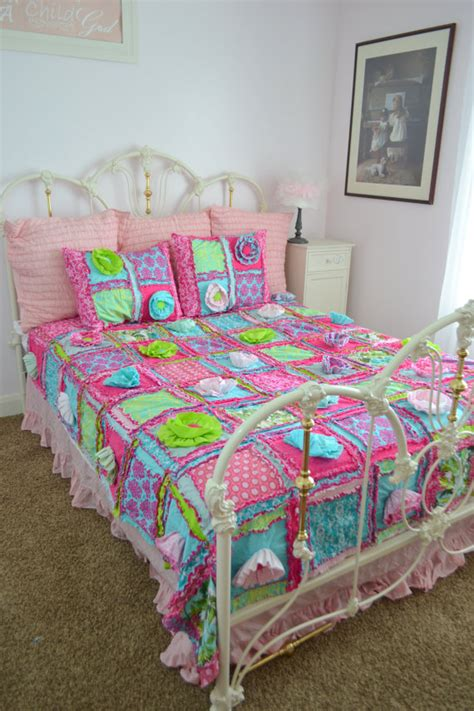 twin bed quilt size floral quilt bohemian bedding turquoise green pink