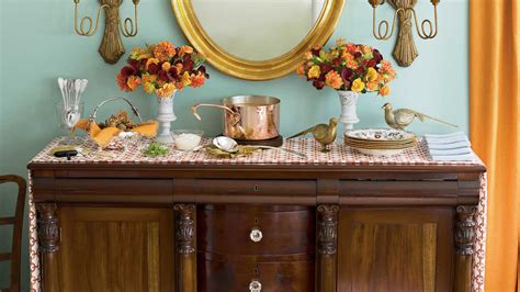 southern living home decor party party perfect sideboard fall decorating ideas southern