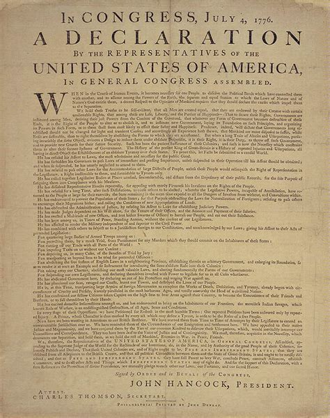 the declaration of independence and the constitution of the united states of america books documents from the continental congress and the