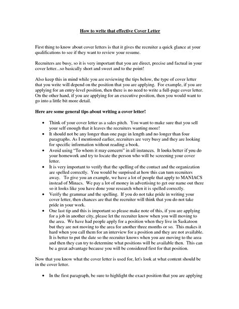 how to write a effective cover letter write a strong cover letter