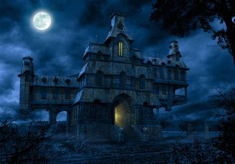 scary blue haunted house pictures photos and images for
