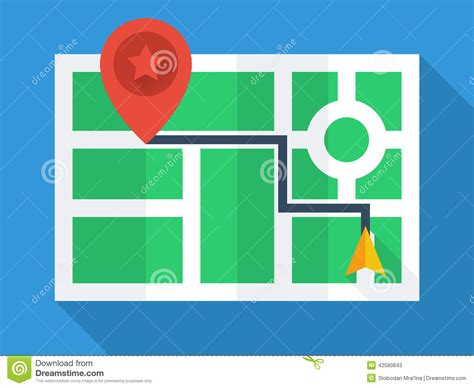design navigation icon size gps map top view stock vector illustration of modern