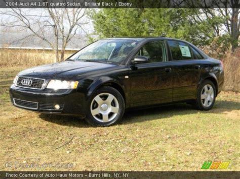 2004 black audi a4 brilliant black 2004 audi a4 1 8t quattro sedan