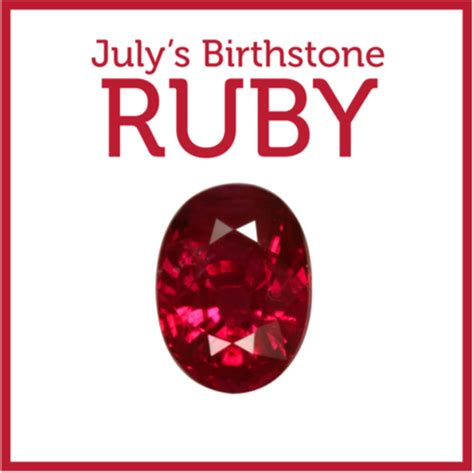 Ruby Birthstone Of July 2 by The Of The Month The Ruby
