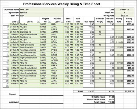 timesheet excel templates word monthly template download free